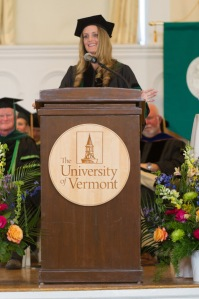 Chelsea Harris '14 at the UVM College of Medicine Commencement May 18, 2014.
