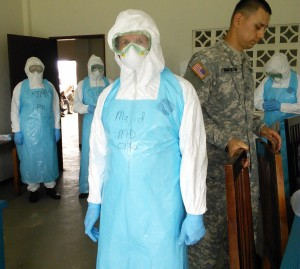 Majid Sadigh, M.D., in Liberia to help treat patients with Ebola.