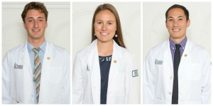 uvm medicine bloggers from L to R: Brian Till '17, Hillary Anderson '17 and Justin Genziano '17