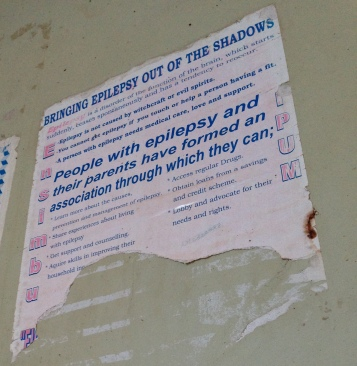 A poster advocating for awareness of epilepsy.