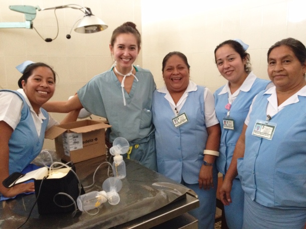 Cordelia Ross '16, second from left, in Guatemala.