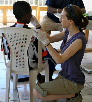 Triage in Port-au-Prince, Haiti