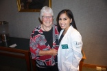 Professor Emeritus of Medicine Mimi Reardon, M.D.'67 and Soraiya Thura '18