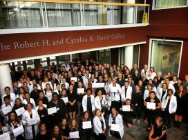 White Coats 4 Black Lives gathering at the Larner College of Medicine