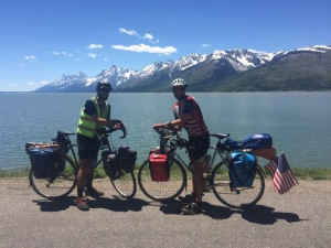 Munger and Frasca in the Grand Tetons.