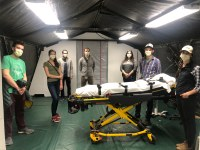 UVM medical students help to create field hospital
